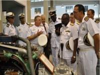 Chefe do Estado-Maior da Marinha de Gana, Commodore Seth Amoama, e Comitiva em visita ao CIAA