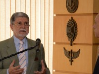 Celso Amorim em seu discurso de despedida: quase três anos e meio à frente da Defesa