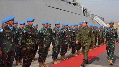 Comandante da FTM no Líbano preside cerimônia de passagem de comando do Contingente Indonésio
