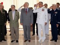 Jaques Wagner ao lado do ex-ministro Celso Amorim: compromisso com o fortalecimento das Forças Armadas