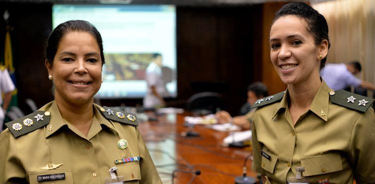 TC Maria das Graças e Ten Paola vão integrar o 22º contingente do Brabat na Minustah: 19 mulheres no total - Foto: PH Freitas