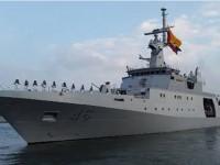 """Navio - Patrulha Oceânico """"ARC 20 de Julio"""" suspendendo da Base Naval de Cartagena para a Primeira Expedição Colombiana à Antártica"""
