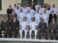 Comandante da Marinha e demais Almirantes que acompanharam a visita