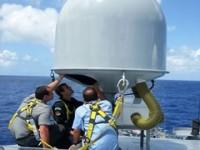 """Antena do Terminal Móvel Naval do Navio-Patrulha Oceânico """"Araguari"""" é testada"""