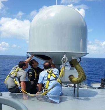 DCTIM instala primeiro terminal de comunicações por satélite dos Navios-Patrulha Oceânico da Classe Amazonas