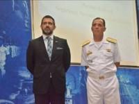 Professor-Doutor Rodrigo More e o Diretor-Geral do Pessoal da Marinha