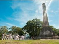 Cerimônia realizada no monumento erguido em homenagem às vítimas do naufrágio