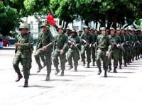 Representação de militares do Grupamento de Fuzileiros Navais de Belém
