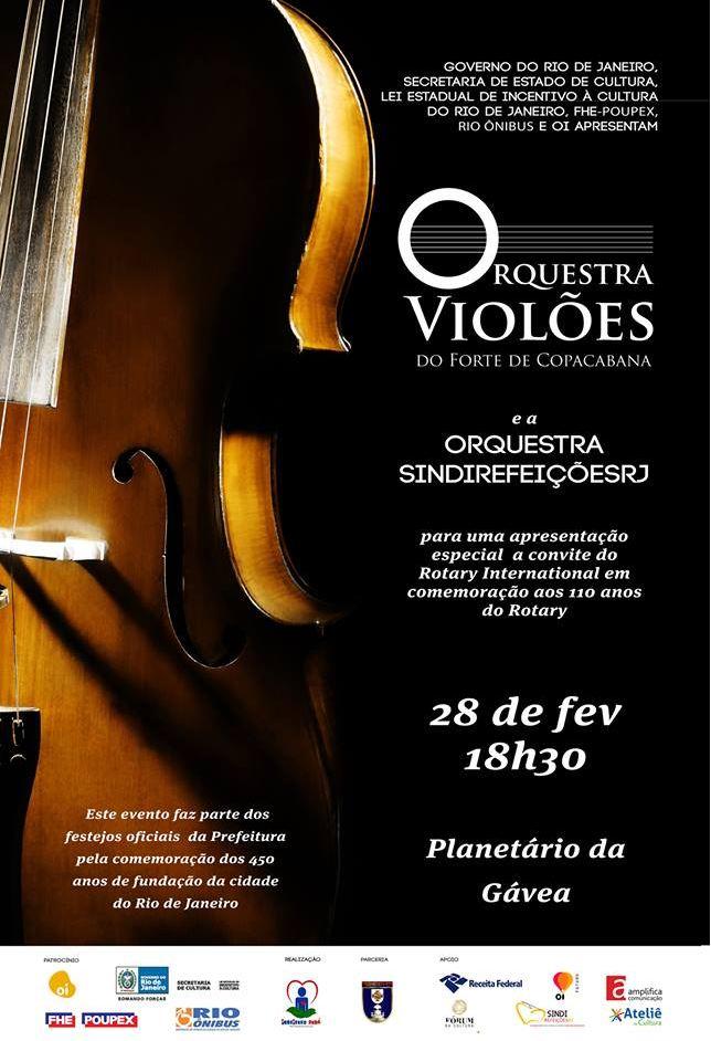 Orquestra Violões do Forte de Copacabana se apresenta no Planetário da Gávea