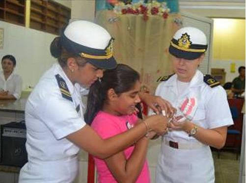 Policlínica Naval de Manaus realiza Ação Cívico-Social na Casa Mamãe Margarida