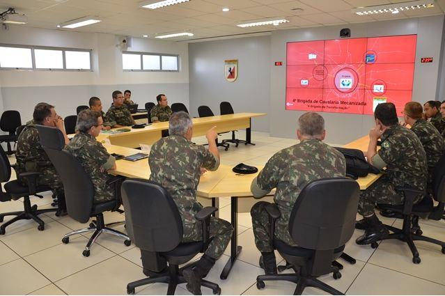 Comando da 4ª Brigada de Cavalaria Mecanizada – Visita