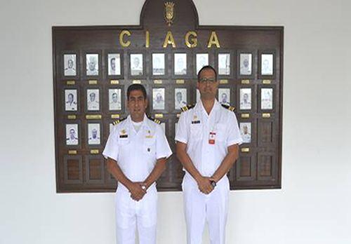 Centro de Instrução Almirante Graça Aranha recebe visita de oficiais da Marinha peruana