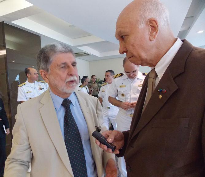 Ex-ministro da Defesa, Embaixador Celso Amorim, concede entrevista a Folha Militar na ESG