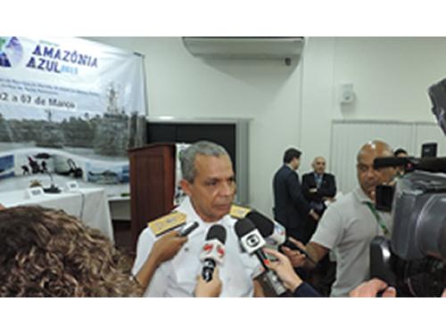 """Comando do 4º Distrito Naval e suas Capitanias realizam entrevista coletiva sobre Operação """"Amazônia Azul"""""""