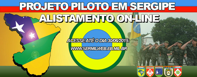 """Projeto Piloto de Alistamento militar """"on-line"""" em Sergipe"""