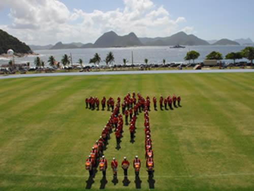 Banda Marcial do Corpo de Fuzileiros Navais se apresenta em cerimônia dos 450 anos do Rio de Janeiro (RJ)