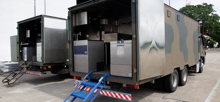 O Rodomapre é um módulo de alimentação. Na estrutura de cozinha sobre rodas são preparadas simultaneamente até 120 refeições