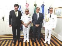 Da esquerda para a direita: Cônsul da Alemanha, Comandante do 4° Distrito Naval, Embaixador da Alemanha e Adido de Defesa da Alemanha