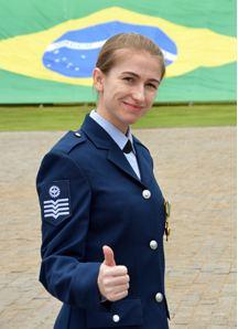Sargento da Força Aérea Brasileira (FAB) Juliana Paula de Souza