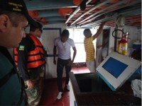 Militares inspecionaram 157 embarcações