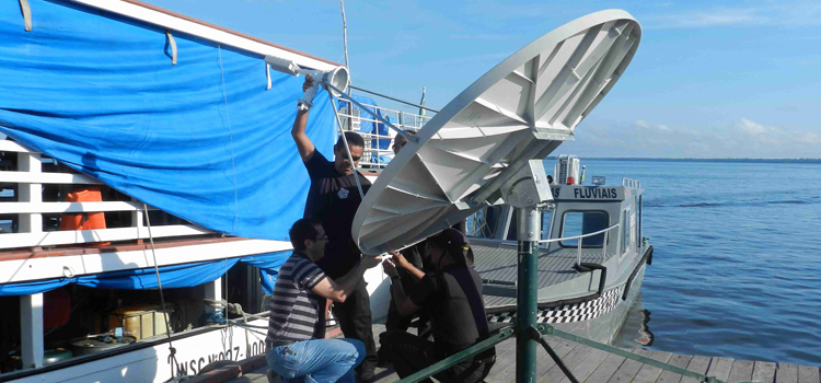 Antenas instaladas pelo Censipam viabilizam comunicação entre comarcas do interior e sede do TJAM em Manaus