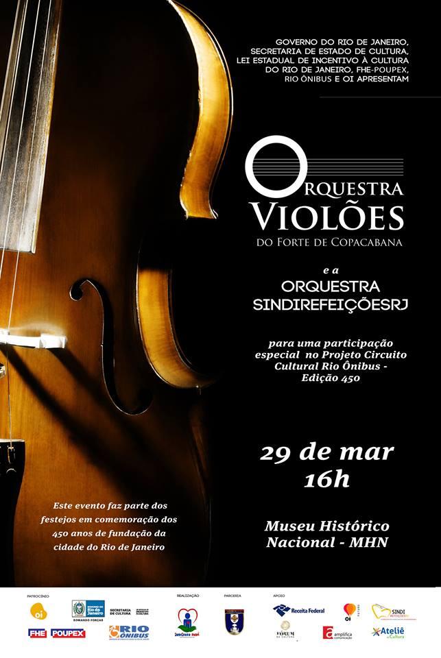 Orquestra Violões do Forte de Copacabana participa do Circuito Cultural Rio Ônibus  Edição Rio 450