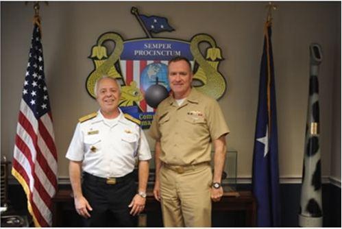 Adido Naval nos Estados Unidos da América e no Canadá visita Comando da Força de Submarinos do Atlântico