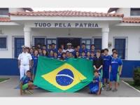 Estudantes com o Delegado Fluvial de Cuiabá