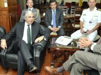 Ministro Jaques Wagner recebe comitiva portuguesa e discute ações de proteção no Atlântico Sul