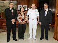 Parlamentares estiveram no Gabinete do Almirante Leal Ferreira