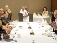 Wagner com os representantes da CPLP: projetos nas vertentes acadêmica, medicina militar, missões de paz, intercâmbio de estudantes, segurança do tráfego marítimo e defesa cibernética.