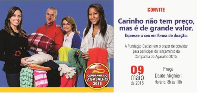 """3º Grupo de Artilharia Antiaérea participa do """"Grupo Conde de Caxias"""" na campanha do agasalho 2015"""