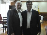 Ministro Jaques Wagner recebe o governador Flávio Dino
