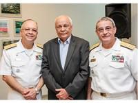 Vice-Almirante Savio, com presidente da FIEAM e o Vice-Almirante Zamith
