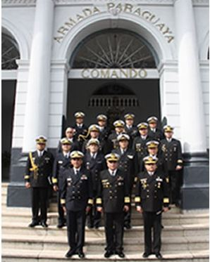 Coordenador da Área Marítima do Atlântico Sul visita Comandante Local de Controle Operativo (COLCO) Paraguai