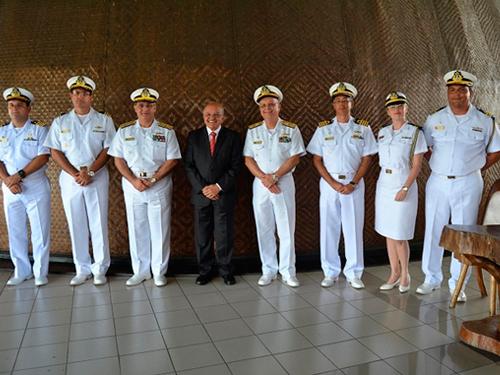 Governador do Amazonas promove despedida para o Vice-Almirante Savio e de boas-vindas ao Vice-Almirante Zamith