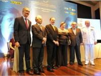 Autoridades que participaram do evento na Escola Naval, no Rio de Janeiro