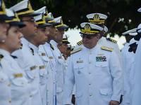 Vice-Almirante Zamith durante Mostra de Pessoal