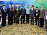 Presidenta Dilma homenageia ex-pracinhas em Dia da Vitória