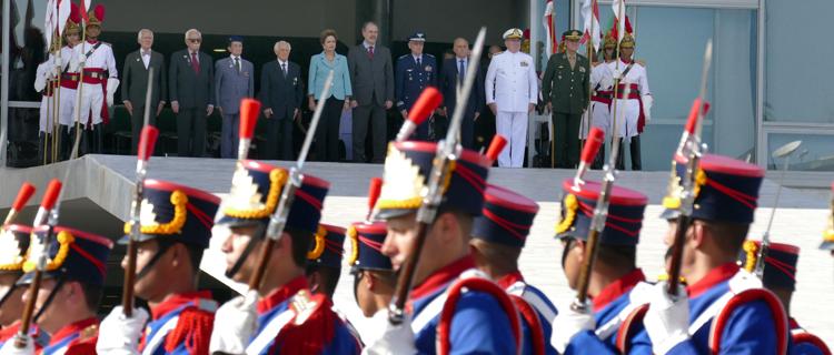 Ex-combatentes no Palácio do Planalto com a presidenta Dilma Rousseff no Dia da Vitória