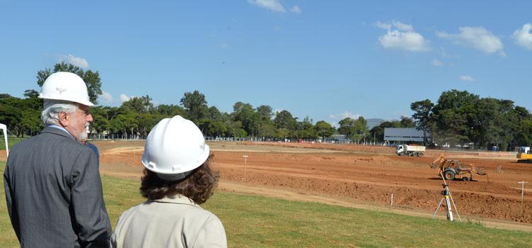 Visita a obra de expansão do ITA, com cerca de 16 mil m², onde funcionará a Divisão de Ciências Fundamentais