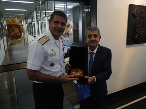 Centro de Controle Interno da Marinha recebe o Presidente do Tribunal de Contas do Município do Rio de Janeiro