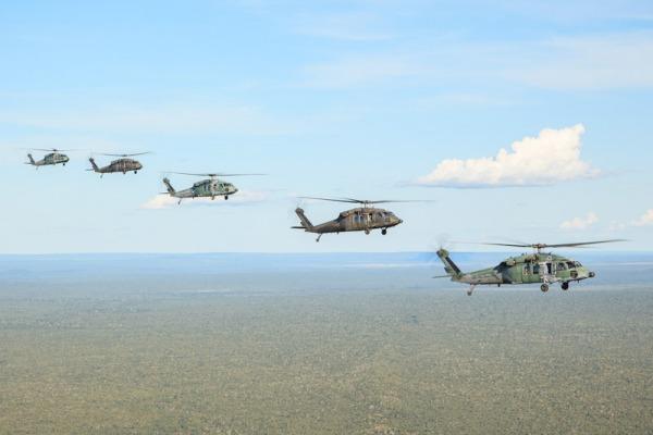 Esquadrão Harpia treina resgate em combate no sul do Pará