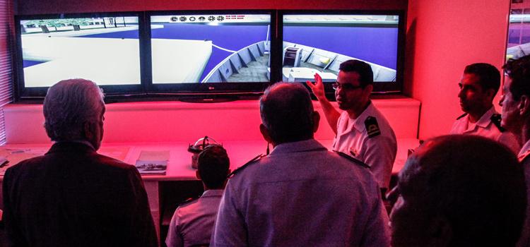 Simulador de Avisos de Instrução, criado por um oficial da Força Naval brasileira