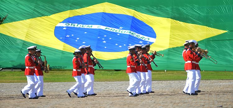 Batalha Naval do Riachuelo, data magna da Marinha, foi comemorada no Grupamento de Fuzileiros Navais de Brasília