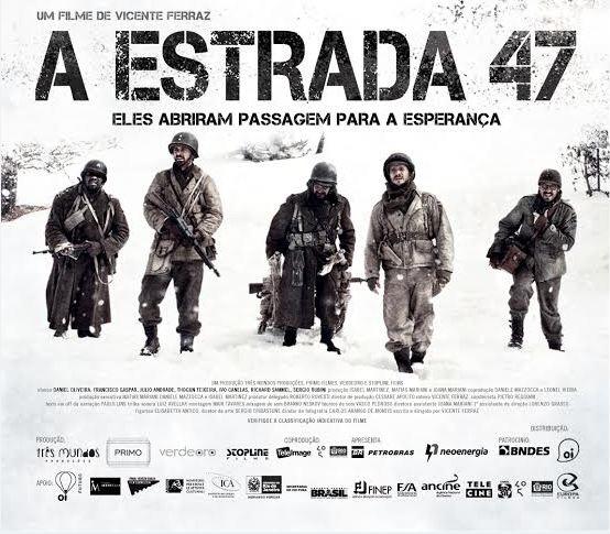 """Cine Odeon exibe o premiado filme """"A ESTRADA 47"""" com desconto para militares do Exército Brasileiro"""