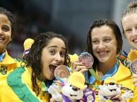 Atletas de Alto Rendimento conquistam medalha de bronze no revezamento 4x100m em Toronto - Foto: Divulgação COB