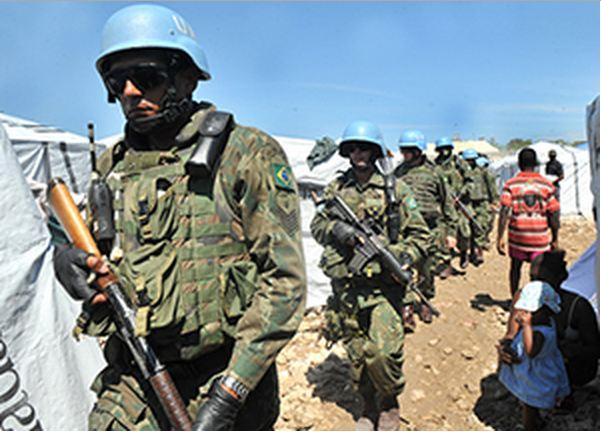 Tropa brasileira no Haiti