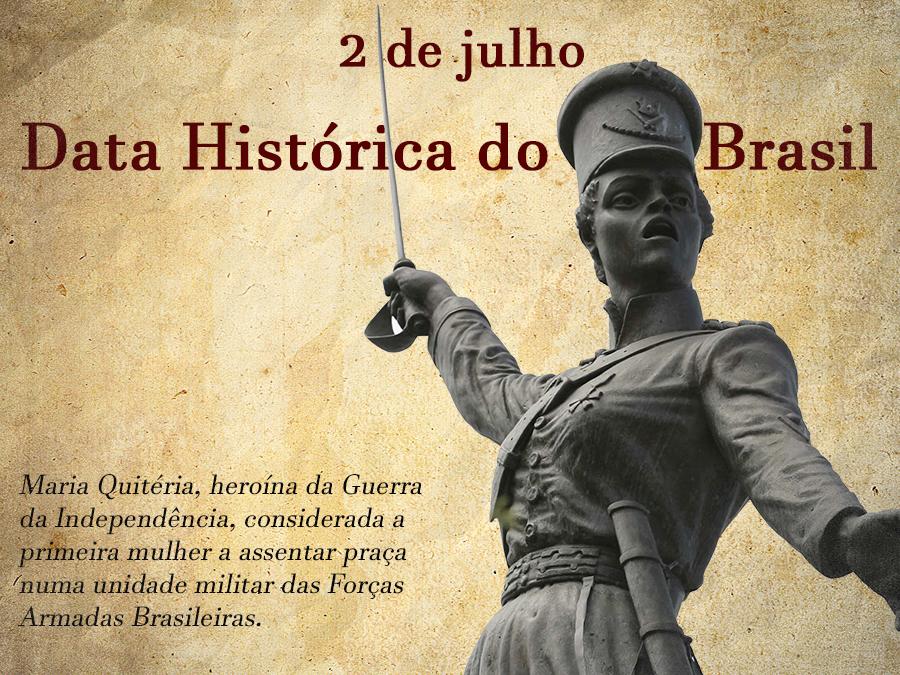 2 de julho marca importante data histórica do Brasil