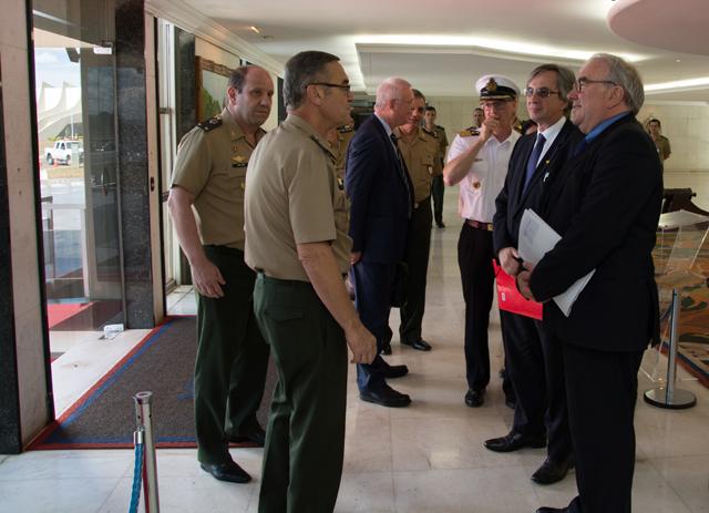 Visita de Comitiva Alemã ao Comandante do Exército